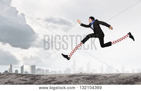 He is making giant steps