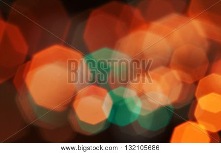 Red and yellow bokeh color abstract background with defocused lights