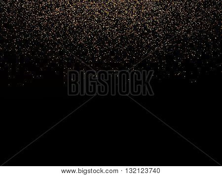 Abstract background with falling confetti golden confetti round confetti pieces
