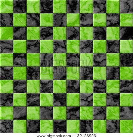 Checkerboard decorative texture - green and black pattern