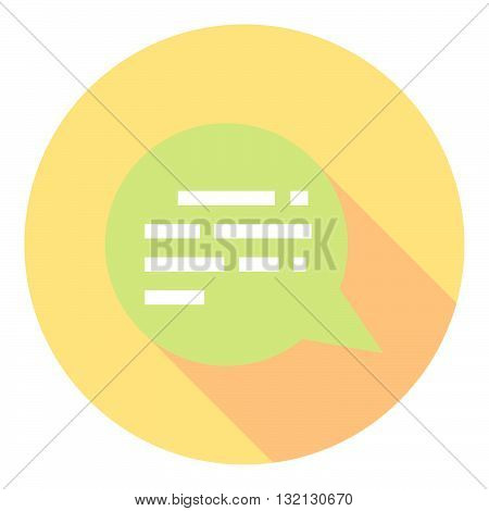 Chat Speech Bubble Symbol Flat Style Design