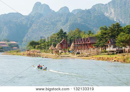 The beautiful mountain in Vang Vieng, Laos.