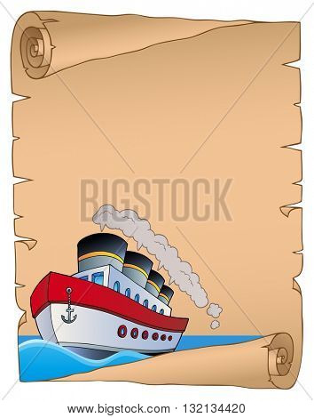 Parchment with nautical ship theme 2 - eps10 vector illustration.