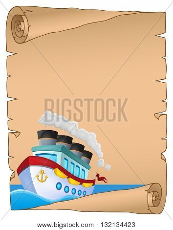 Parchment with nautical ship theme 1 - eps10 vector illustration.