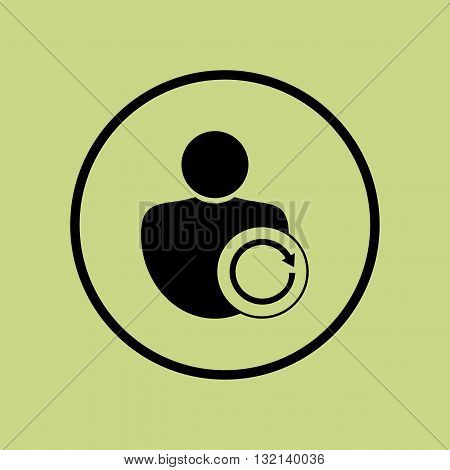 User Reload Icon In Vector Format. Premium Quality User Reload Symbol. Web Graphic User Reload Sign