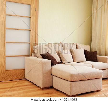 Interior da sala de estar moderna