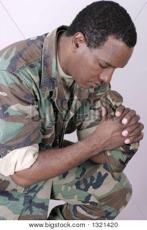 Marine Praying