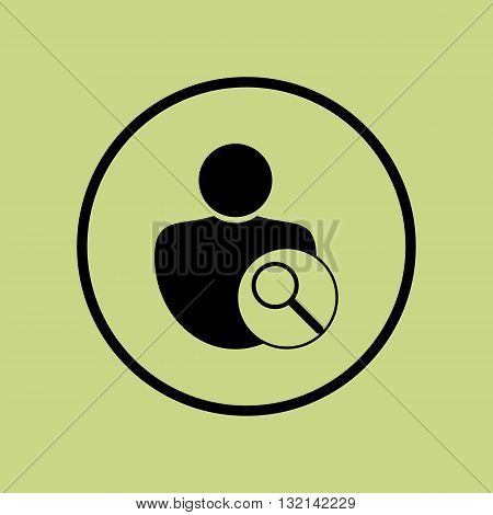 User Zoom Icon In Vector Format. Premium Quality User Zoom Symbol. Web Graphic User Zoom Sign On Gre