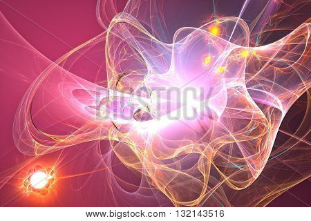 Spiral Nebula space. Abstract image. Fractal Wallpaper on your desktop. Digital artwork for creative graphic design. Fine microtexture.