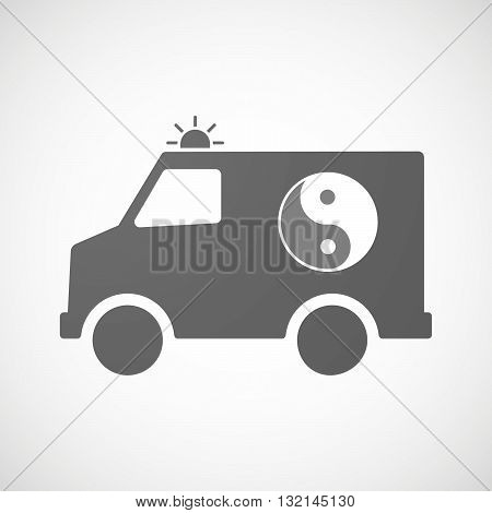 Isolated Ambulance Icon With A Ying Yang