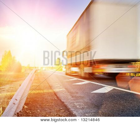 Fast moving truck