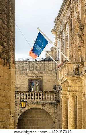 Mdina - In 2017, Malta Is The Presidency Of The Council Of The European Union