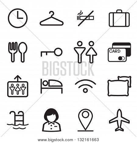 Hotel hostel motel icons Illustration vector Symbol