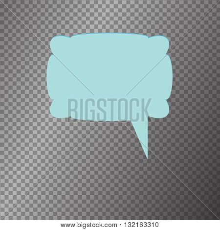 Vector isolated blue modern banner icon buble speesh illustration