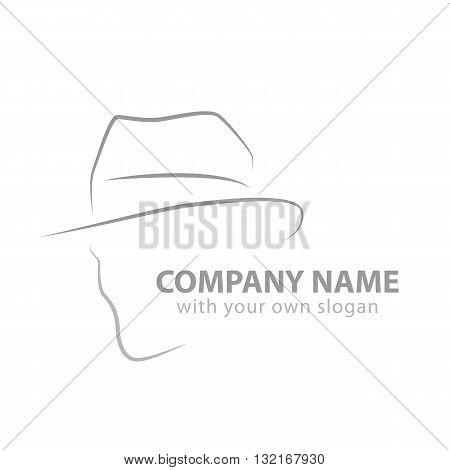 a silhouette of a head as logo