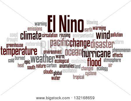 El Nino, Word Cloud Concept