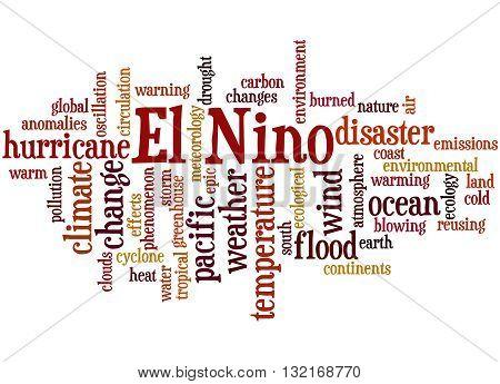 El Nino, Word Cloud Concept 4