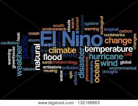 El Nino, Word Cloud Concept 7