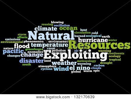 Exploiting Natural Resources, Word Cloud Concept 3