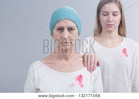 Expressing Support For Woman With Breast Cancer