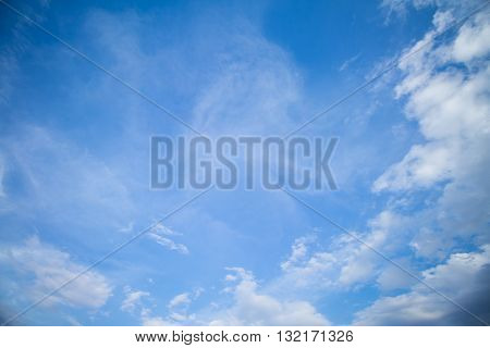 Blue Sky And Clouds. peaceful sky and cloud in good weather day. Sky And Clouds in day time. Sky background.