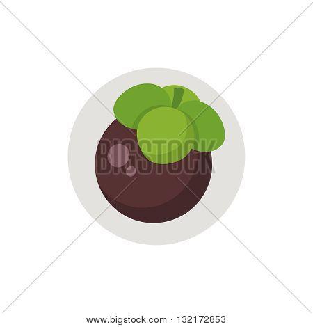 Mangosteen icon. Mangosteen icon flat. Mangosteen icon art. Mangosteen icon flat illustration. Mangosteen icon vector. Mangosteen icon vector image.