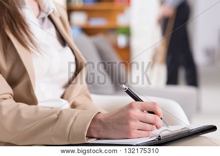 Notes Are Important At Psychiatrist's Work