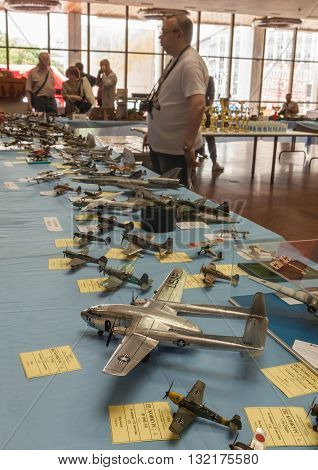 KIEV UKRAINE - MAY 29 2016: The May 28-29 was held an annual festival of stand modeling - Kyiv Scale Models Fest 2016 Kiev Ukraine. The stand exhibition