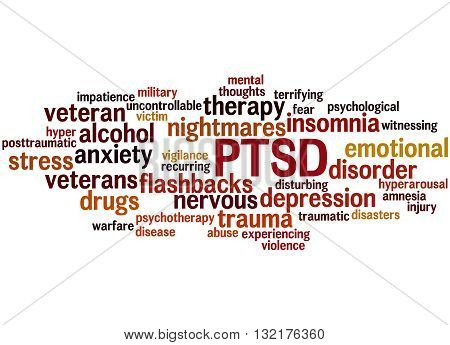 Posttraumatic Stress Disorder - Ptsd, Word Cloud Concept 7