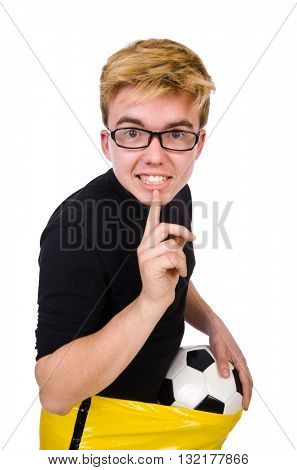 Funny man in sports concept