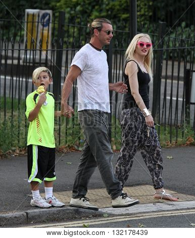 LONDON, UK - AUGUST 1, 2013: Gwen Stefani Gavin Rossdale Kingston Rossdale seen out and about in Primrose Hill