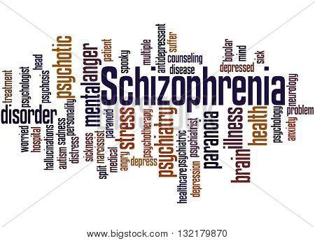 Schizophrenia, Word Cloud Concept 7