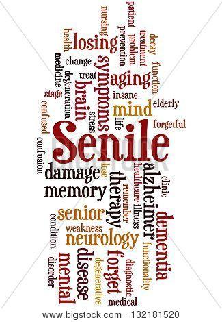 Senile, Word Cloud Concept 8