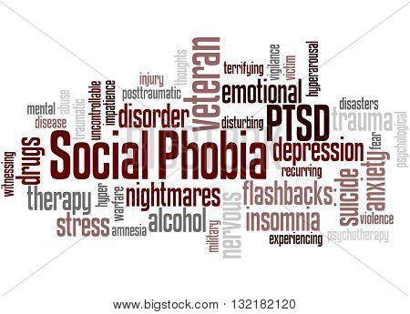 Social Phobia And Ptsd, Word Cloud Concept 3