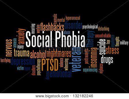 Social Phobia And Ptsd, Word Cloud Concept 6
