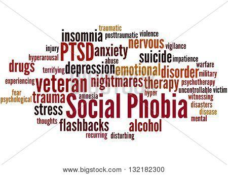 Social Phobia And Ptsd, Word Cloud Concept 8