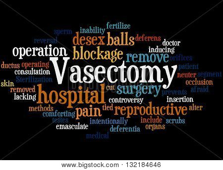 Vasectomy, Word Cloud Concept 6