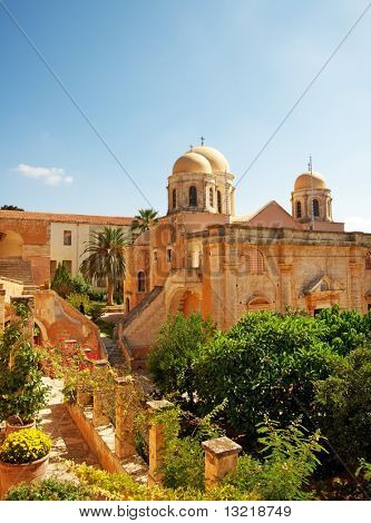 Beautiful monastery of agia triada