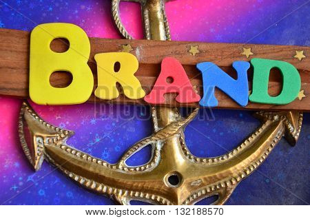 brand word on a  abstract colorful background