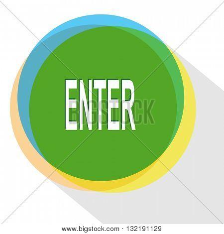 enter. Internet template. Vector icon.