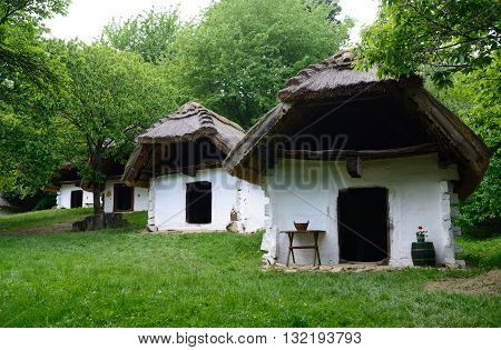 The village of Cak (near Velem Hungary) is famous for its wine cellars. These cellars and press houses were used not only for wine production but also for storing fruit and chestnut.