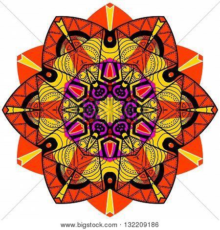 Mandala In Crazy Colors