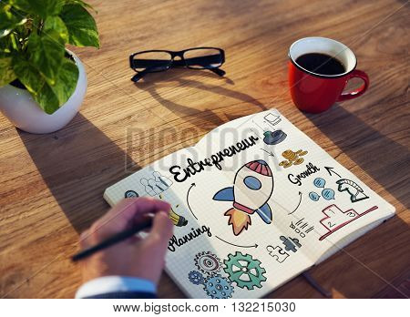 Entrepreneur Enterprise Dealer Planning Growth Concept