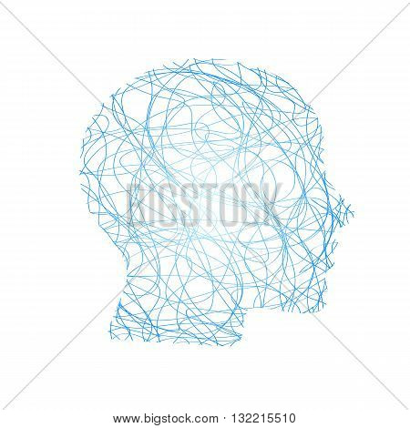 an abstract illustration of a bright colorful head