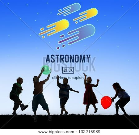 Astronomy Science Solar System Astrology Shooting Star Concept