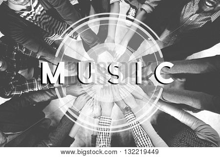 Music Multimedia Radio Party Lifestyle Concept