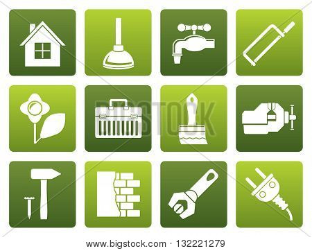 Flat construction and do it yourself icons - vector icon set