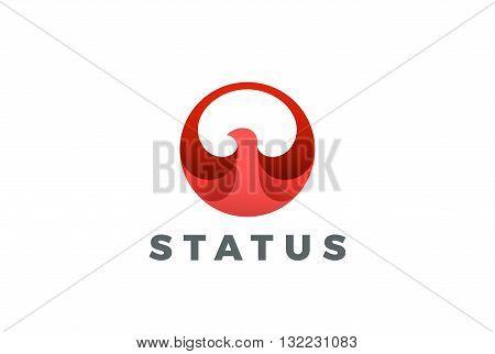 Bird abstract Circle Logo vector Eagle Falcon Hawk Phoenix icon