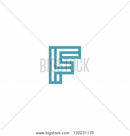 Impossible Letter F Logo design vector Linear Symbol Monogram