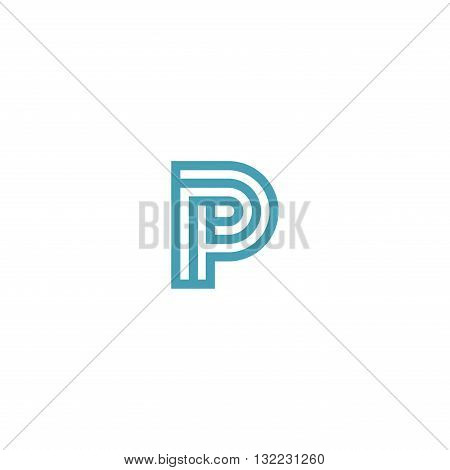 Impossible Letter P Logo design vector Linear Symbol Monogram